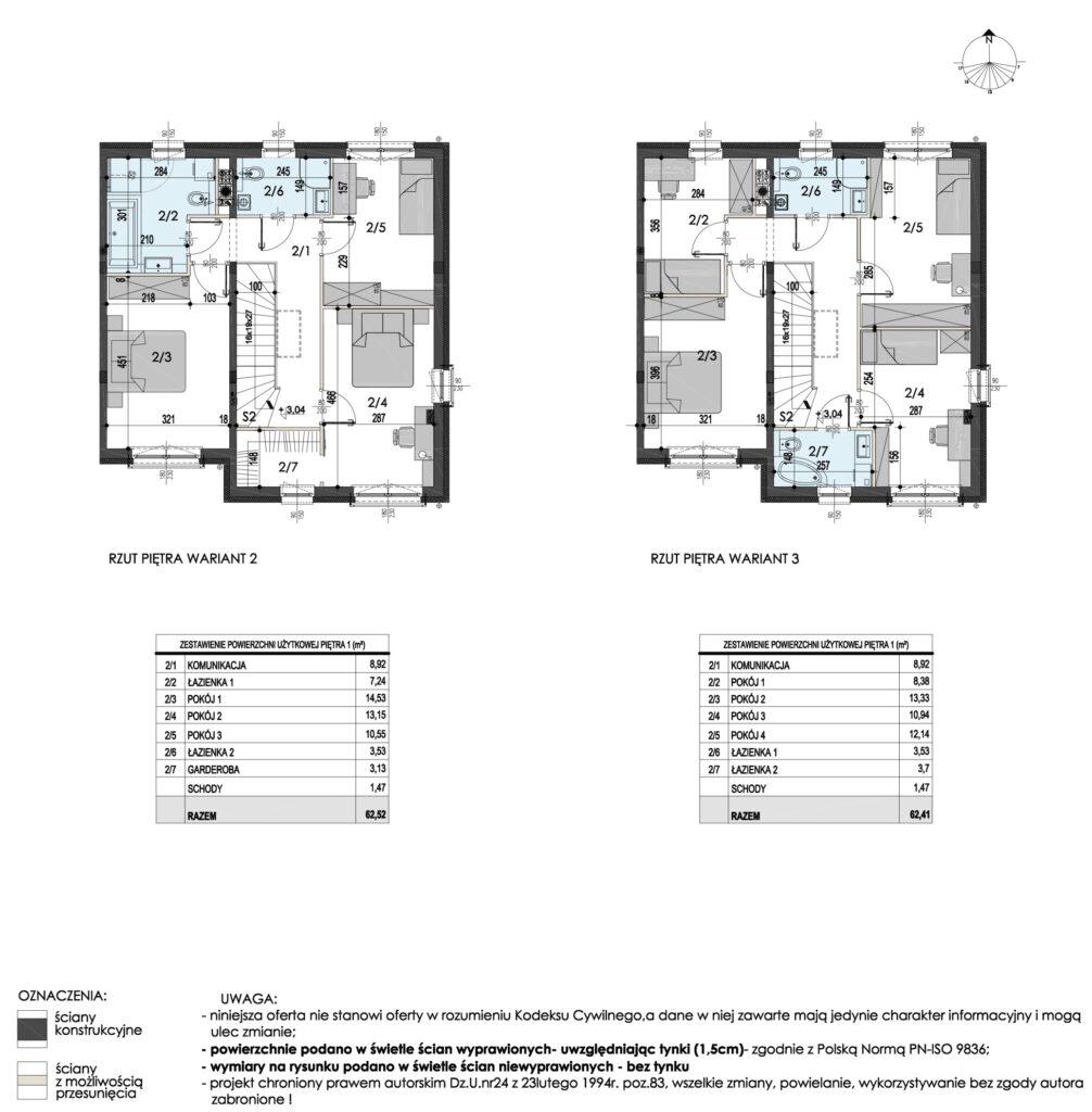 Szeregówki Wasilków ulica Przejazdowa 3 Campo Domy plan 2